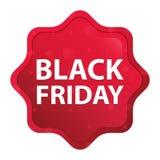 Black Friday brumoso subió botón rojo de la etiqueta engomada del starburst libre illustration