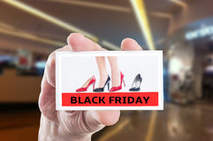 Black Friday for business women shoes Royalty Free Stock Photography