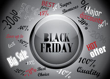 Black Friday Button And Discounts Concept Royalty Free Stock Images