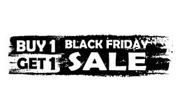 Black friday buy one get one free Royalty Free Stock Photos