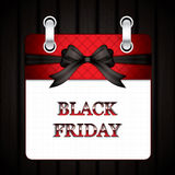 Black friday calendar Royalty Free Stock Photo