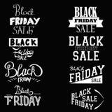 Black Friday calligrafico Fotografie Stock Libere da Diritti