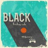 Black Friday Calligraphic designer/tappningstil royaltyfri illustrationer