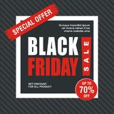 Black Friday Card, Banner, Poster with modern design royalty free stock photography