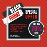 Black Friday Card, Banner, Poster with modern design royalty free stock images