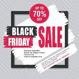 Black Friday Card, Banner, Poster with modern design stock photo