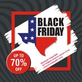Black Friday Card, Banner, Poster with modern design royalty free stock image