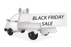 Black Friday Card on A Pickup Truck Stock Photography