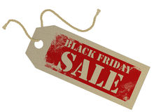 Black Friday cardboard tag Stock Photography