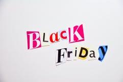 Black friday cartoon box. Collage black friday cartoon box Royalty Free Stock Images