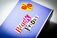 Black friday cartoon box Royalty Free Stock Images