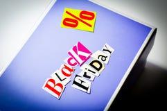 Black friday cartoon box Royalty Free Stock Images