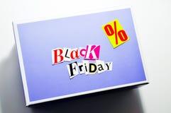 Black friday cartoon box. Collage black friday cartoon box Stock Images