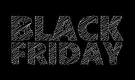 Black Friday Chalk Stock Photography