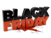 Black Friday che schiaccia terra Immagine Stock