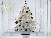 Black friday christmas ball hanging on a christmastree. 3d rendering. 3d rendering. black friday christmas ball hanging on a christmastree Stock Image
