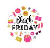 Black Friday, Christmas sale banner, poster template vector illustration