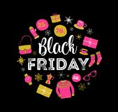 Black Friday, Christmas sale banner, poster template royalty free illustration