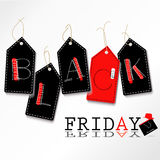 Black friday circle logo label Stock Photos