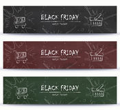 Black Friday, Clearance, Sale, Shopping banner template design Stock Images
