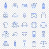 Black Friday Cloth Fashion Shopping Icon set royalty free illustration