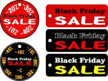 Black Friday Collection. Advertising  illustrated Black Friday collection Stock Photos