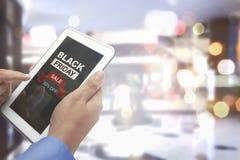 Black Friday com preço do disconto da oferta especial meio Imagem de Stock