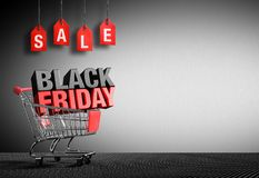 Black Friday Concept - 3D Text Stock Photography