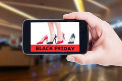Black Friday concept for high heel women shoes Royalty Free Stock Photos