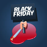 Black Friday concept illustration. Stock Photos