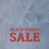 Black Friday Concept. With red text and copy space royalty free illustration