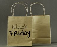 Black Friday concept. Black Friday shopping bag. stock photography