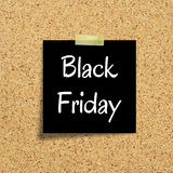 Black Friday on cork background Stock Photo