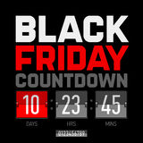 Black Friday countdown timer Royalty Free Stock Photography