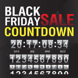 Black Friday countdown timer template Stock Photos