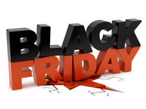Black Friday crushing ground Stock Image