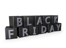 Black Friday cubes Royalty Free Stock Image