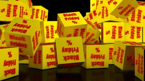 Black friday cubes Stock Photography