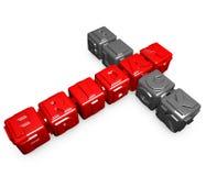 Black Friday cubes Stock Image