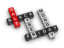 Black friday and cyber monday Stock Photo