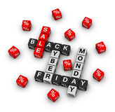 Black friday and cyber monday Royalty Free Stock Photos