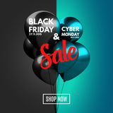 Black Friday and Cyber Monday Sale concept Royalty Free Stock Image