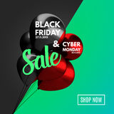Black Friday and Cyber Monday Sale concept background. Stock Images