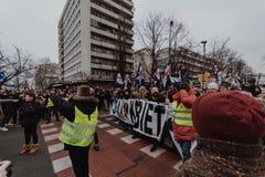 Black Friday - Czarny protest, Polska zdjęcia stock