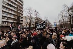 Black Friday - Czarny protest, Polska obraz stock