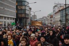 Black Friday - Czarny protest, Polska zdjęcie royalty free