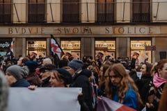 Black Friday - Czarny protest, Polska fotografia stock