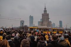 Black Friday - Czarny protest, Polska obrazy royalty free