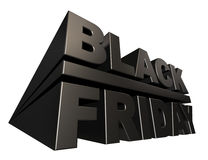 Black friday 3D banner template Stock Photo