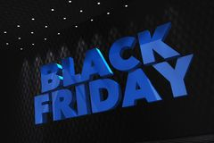 Black Friday 3D Concept Stock Image